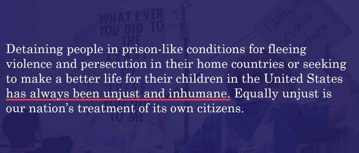 Always been injust and inhumane