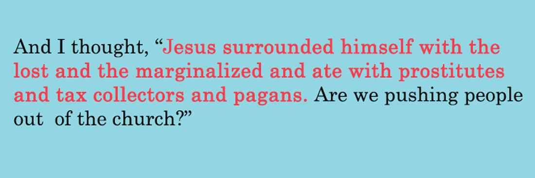 Jesus surrounded lost marginalized