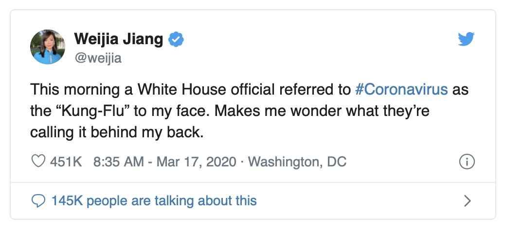 White house racist language tweet