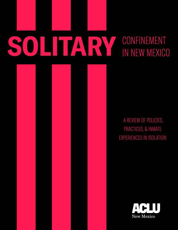 Solitary Report Cover
