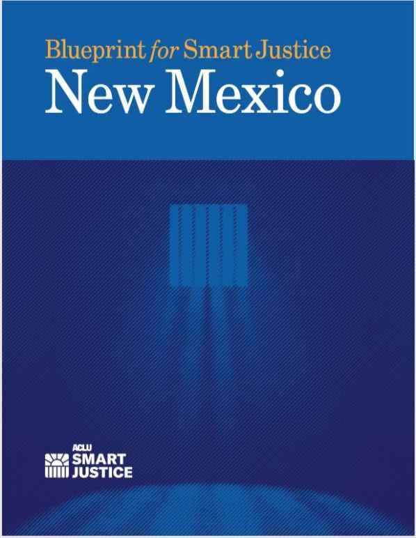 Front cover of Blueprint for Smart Justice New Mexico