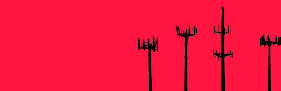 graphic of cell towers