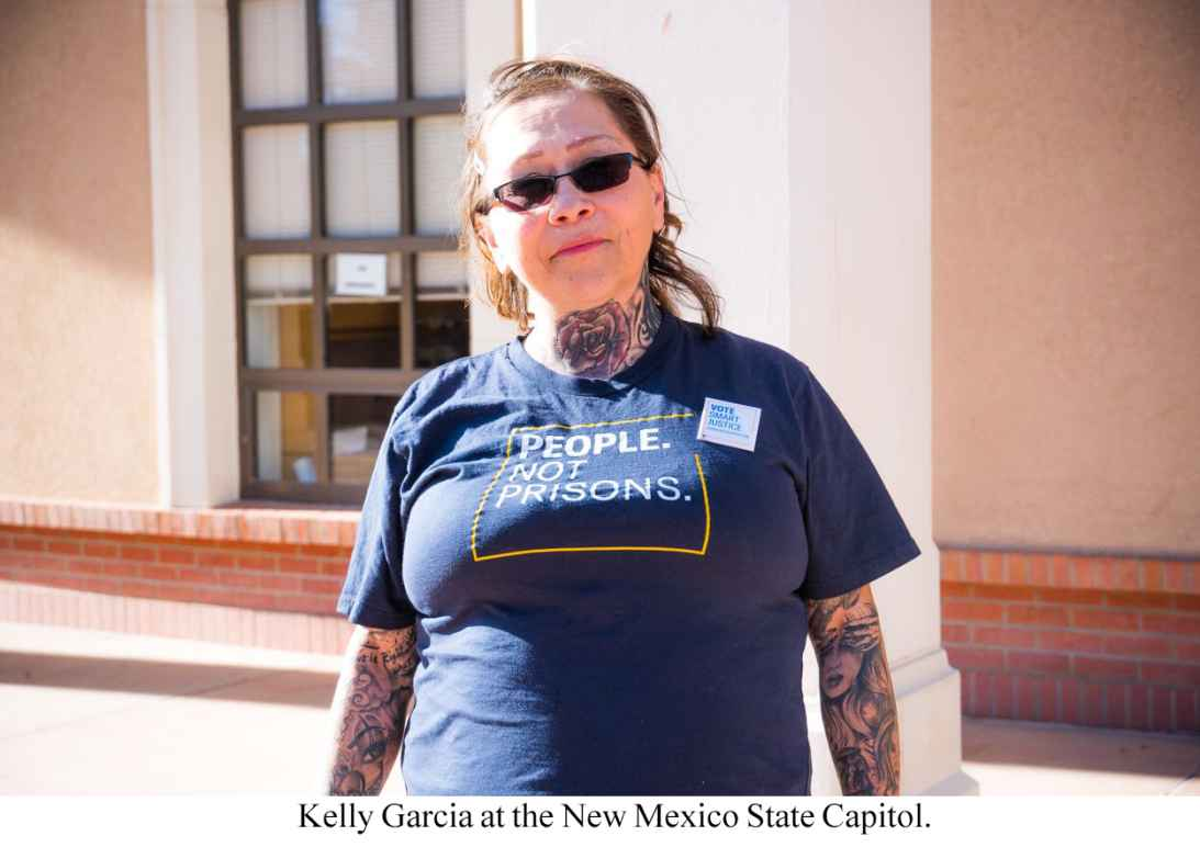 Kelly Garcia at New Mexico State Capitol.