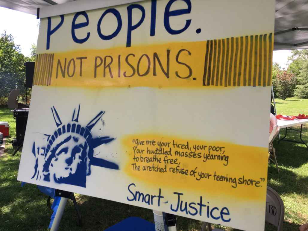People Not Prisons Sign