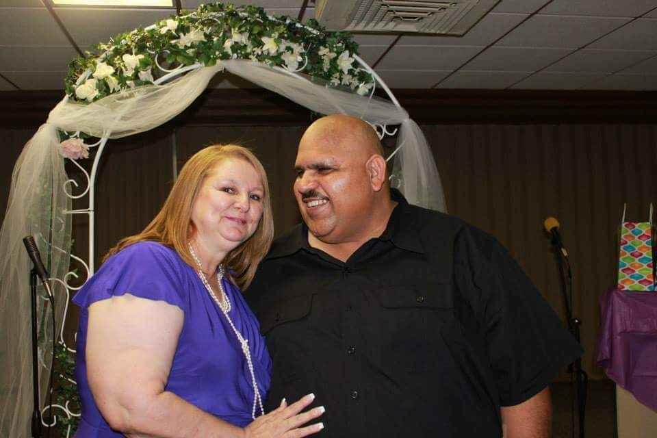 Abbas and Brenda on their wedding day