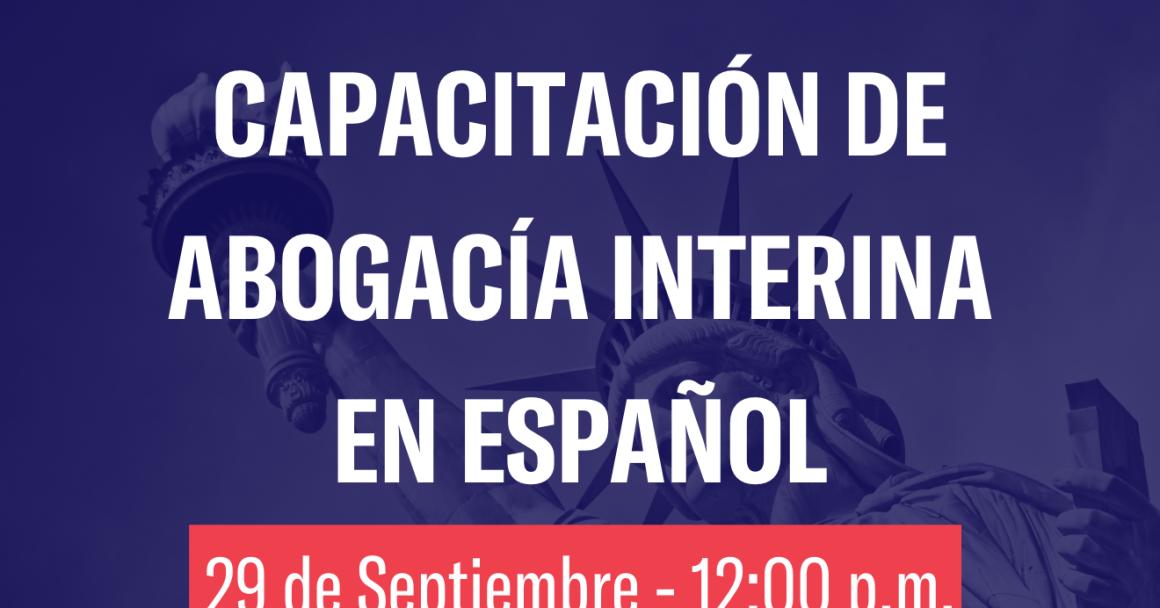 Capacitacion de abogacía interina en español