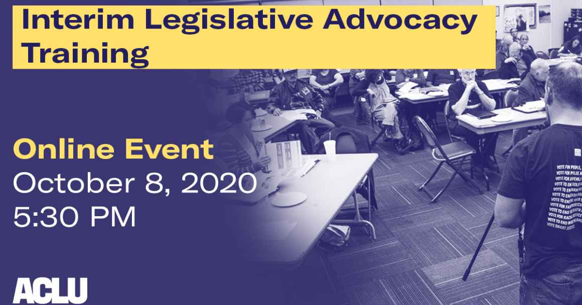 2020 Interim Legislative Advocacy Training